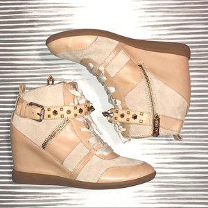 "Sam Edelman sneaker wedge boots. Size 7 1/2"""